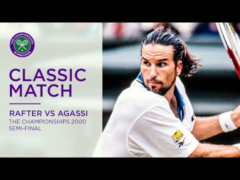 Andre Agassi Vs Pat Rafter | Wimbledon 2000 Semi-final | Full Match Replay