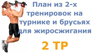 постер к видео План из 2 х тренировок на турнике и брусьях для жиросжигания (2 тр)
