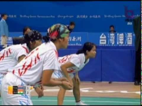 Sepak Takraw(Women's Team A+B) @2010 Asian Games - Thailand vs India 2/4