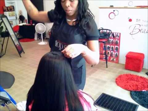 Full Sew In Weave With Side Bangs Youtube