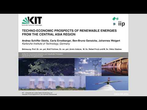 Teamprojekt - Techno-Economic Prospects of renewable energies from the central Asia region