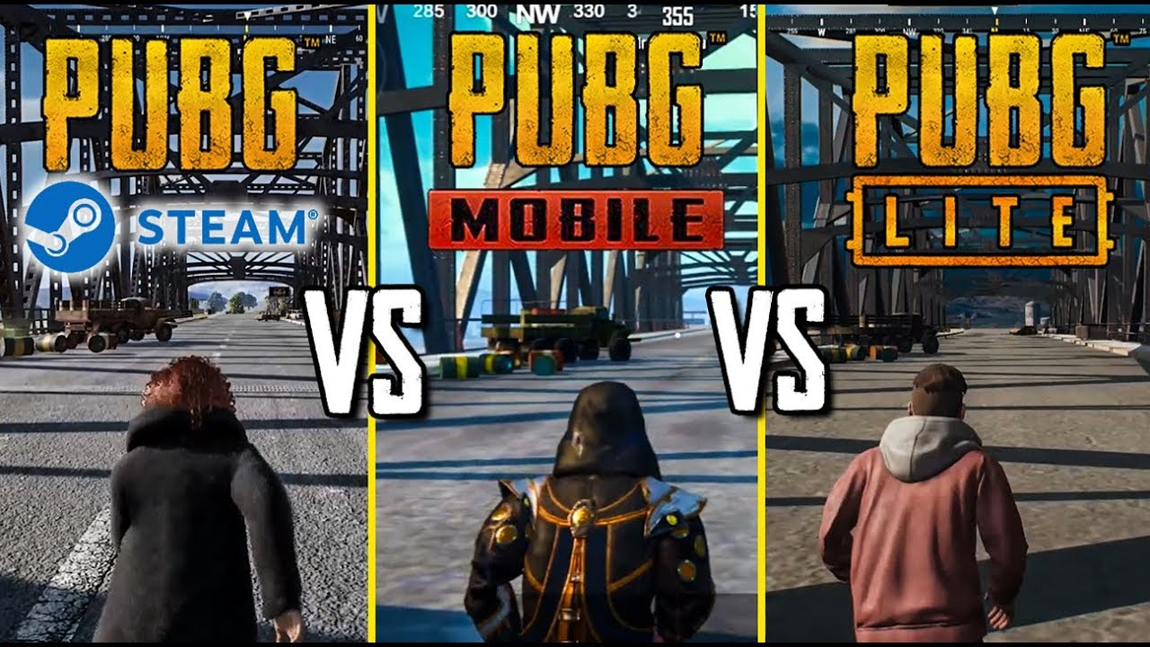 PUBG MOBILE vs PUBG LITE vs PUBG steam СРАВНЕНИЕ МЕХАНИК В PUBG LITE ЧАСТЬ 1