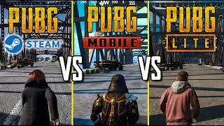 PUBG MOBILE vs PUBG LITE vs PUBG steam.СРАВНЕНИЕ МЕХАНИК В PUBG LITE ЧАСТЬ 1