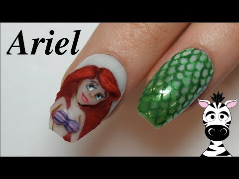 3D Ariel Acrylic Nail Art Tutorial | The Little Mermaid thumbnail