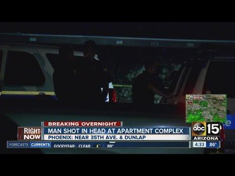 Man shot in head at Phoenix apartment complex
