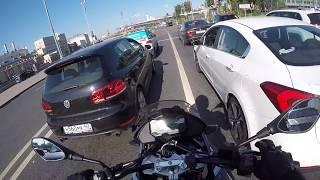 еду утром на BMW G310GS (GoPro 4 unedited)