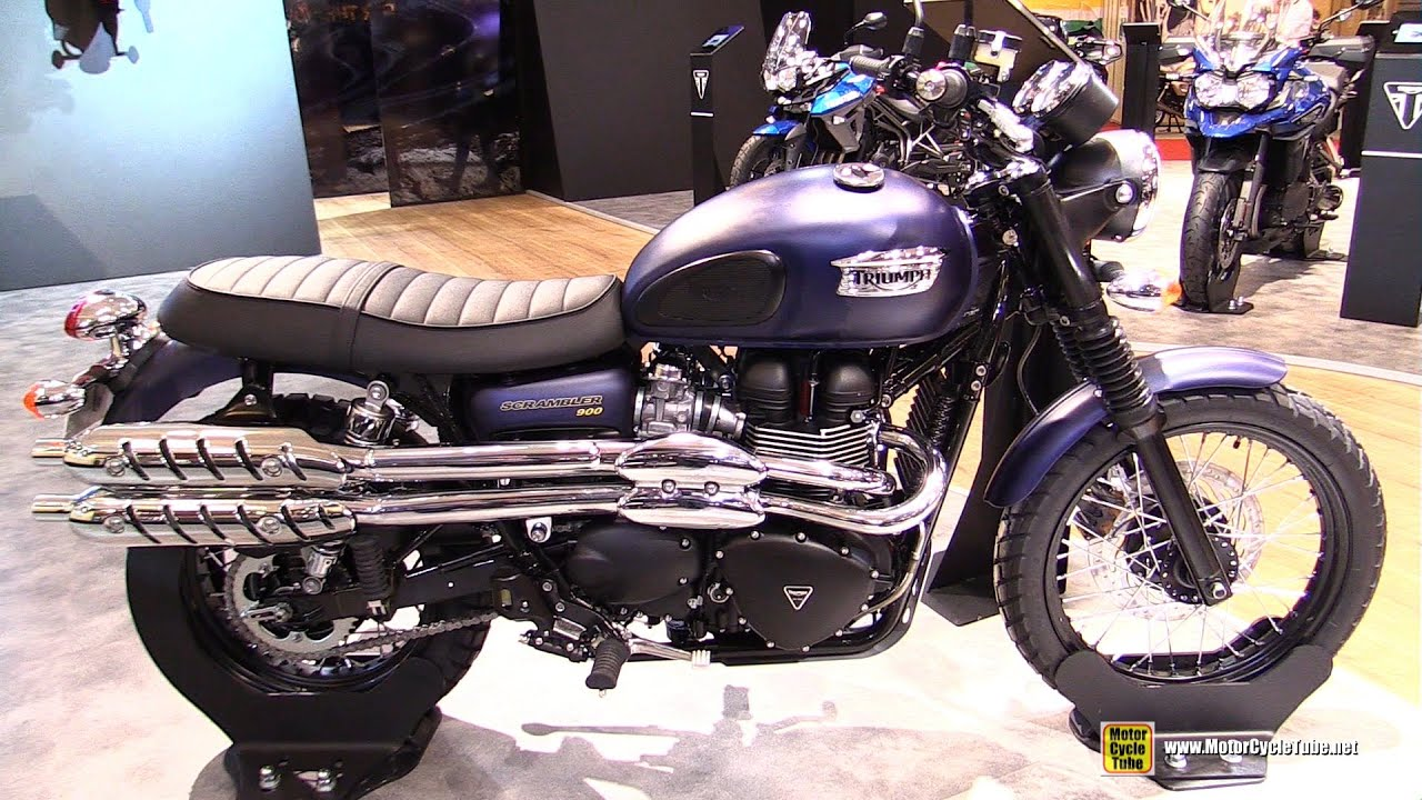 2016 triumph scrambler 900 walkaround 2015 salon de la moto paris youtube. Black Bedroom Furniture Sets. Home Design Ideas