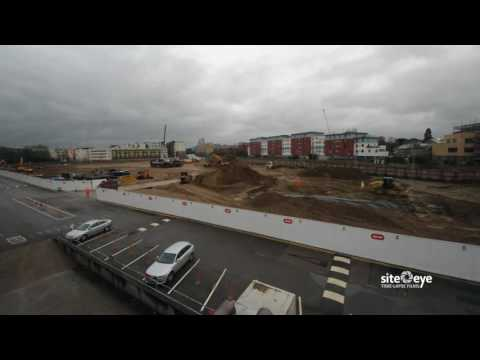 Cambridge Assessment Triangle Project - Demolition and building progress up to June 2016 time-lapse