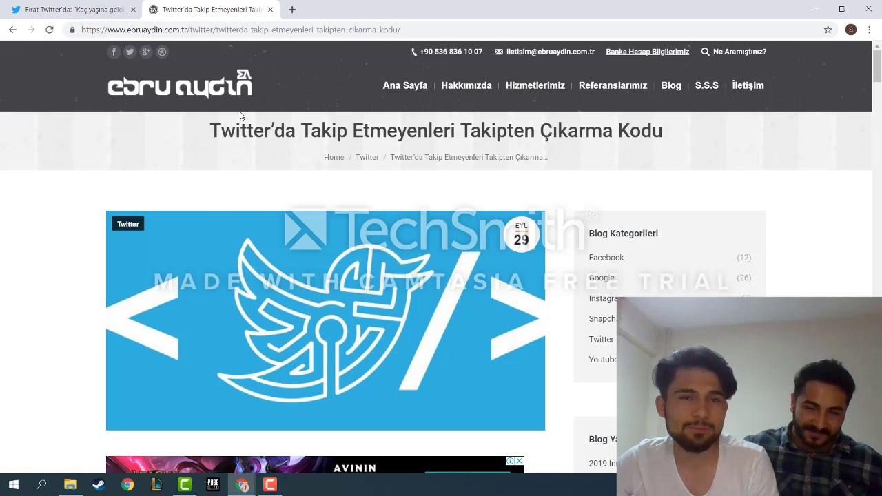 Twitter 2019 Organik Aktif Takipçi Kasma ve Takip Etmeynleri Silme