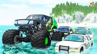 Beamng drive - Monster Truck Crashes #4