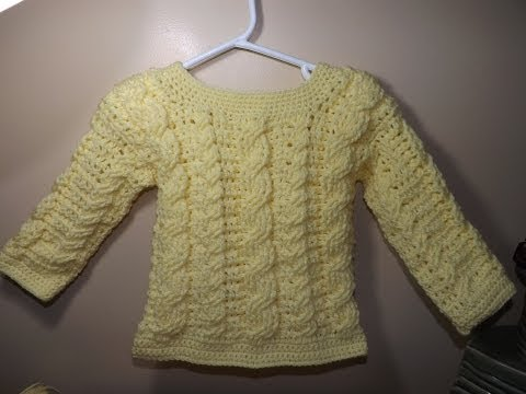 Crochet cable baby sweater part 1 of 2 - with Ruby Stedman