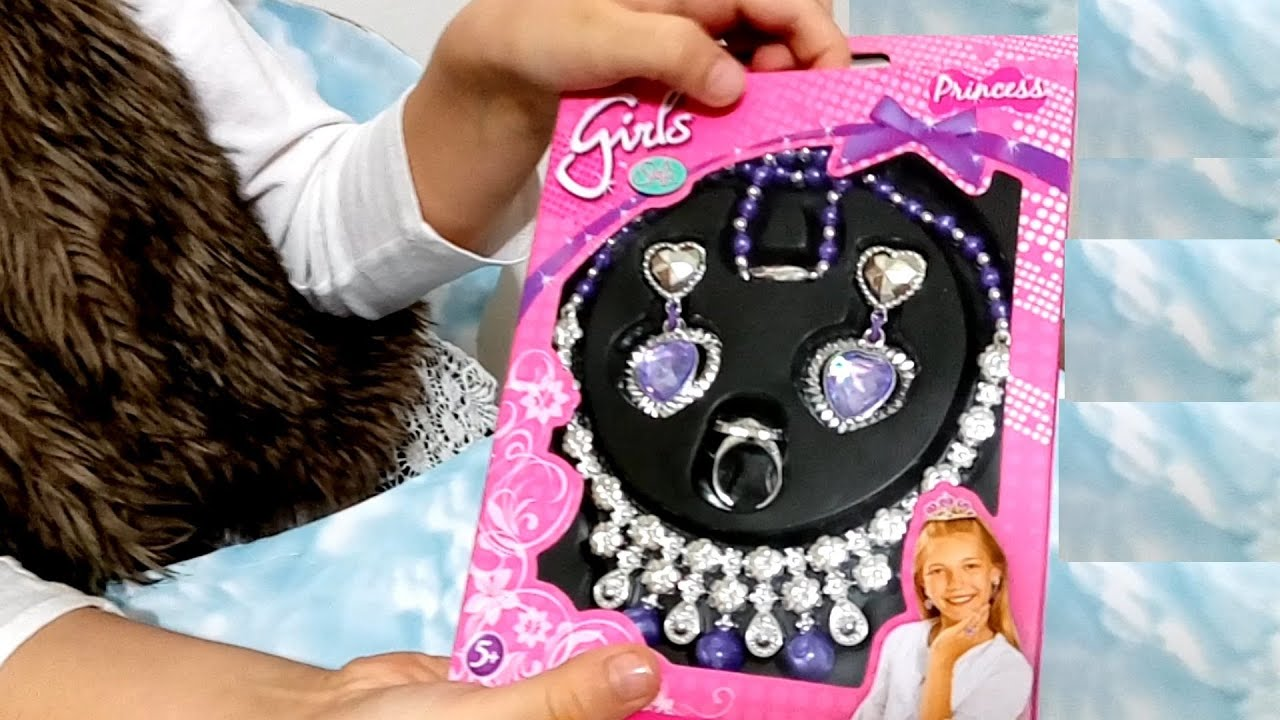 Princess playset jewelry for little girls Funny video from KIDS