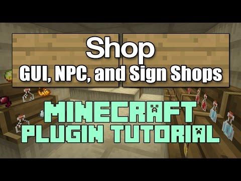 Shop 1 12 Plugin Tutorial Minecraft - YouTube