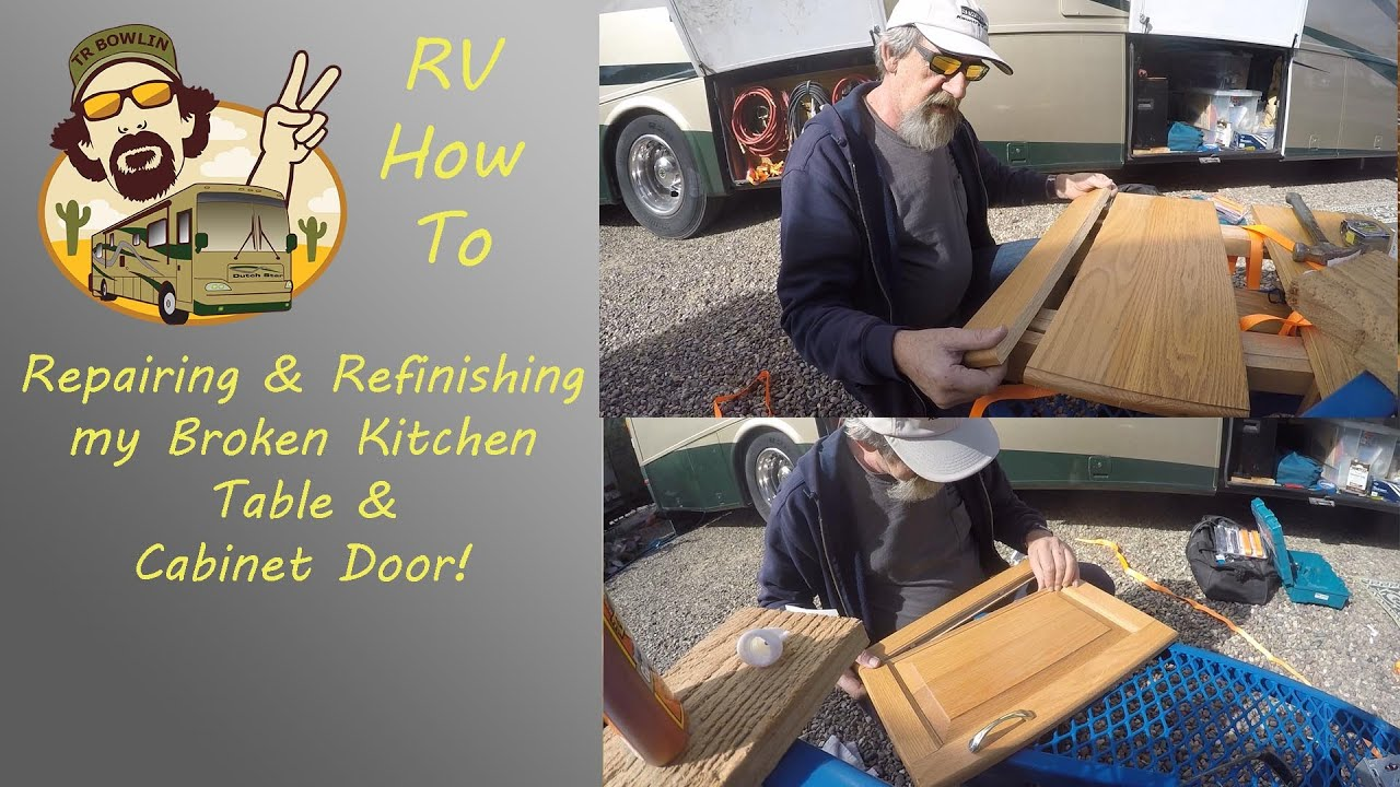 Repairing and Refinishing a Broken Kitchen Table & Cabinet ...
