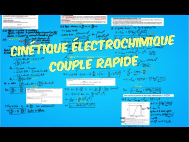 Cinétique électrochimique limitée par la diffusion (exercice)