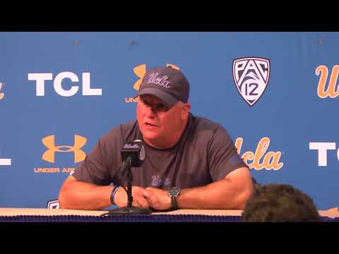 UCLA Football Postgame Press Conference - Chip Kelly 09.01.18