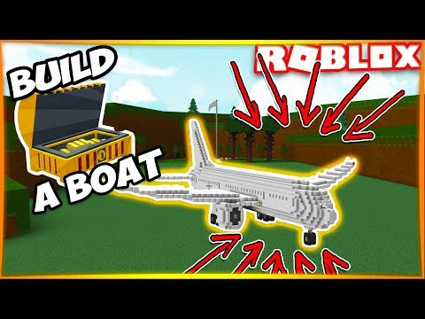 HUGE PASSENGER JET PLANE! | Build A Boat For Treasure ROBLOX
