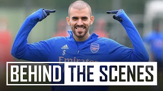 Shooting practice, a mini-match & Ceballos' new trim | Behind the scenes at Arsenal training centre