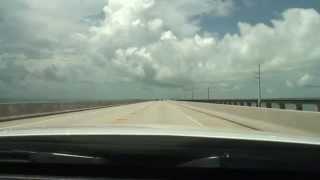 Seven-mile Bridge (U.S. Route 1) - セブンマイルブリッジ (アメリカ国道1号) 西行き