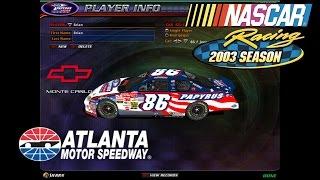 NASCAR Racing 2003 Season Gameplay- Atlanta Cup Race