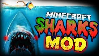 Minecraft Mod | KILLER SHARKS MOD! (Sealife, Harpoons, and More!) - Jaws Mod Showcase