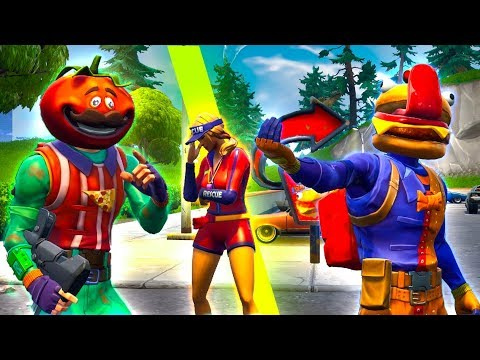 DURR BURGER & TOMATOHEAD Fight Over Customer - Fortnite Short Film