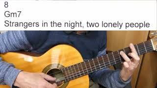 Guitar Accompaniment - Strangers in the Night - Frank Sinatra - (Including lyrics and chords)