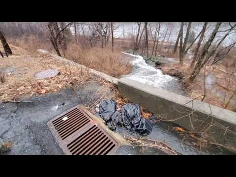 Unclogging Drain Filled With Trash During Heavy Rain And Culvert Update