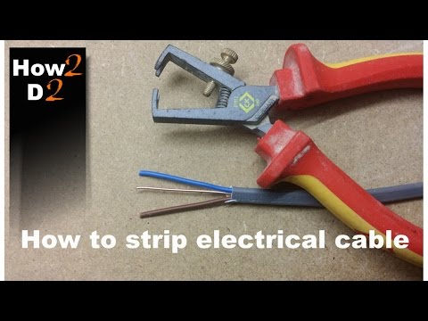 How to strip electrical wires How to use wire stripper  Cable Wire insulation
