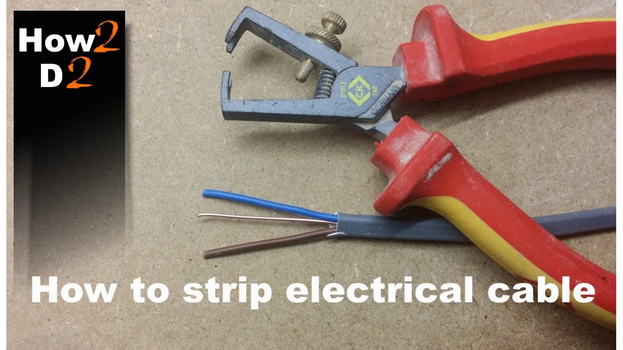 How to strip electrical wires How to use wire stripper Cable Wire ...