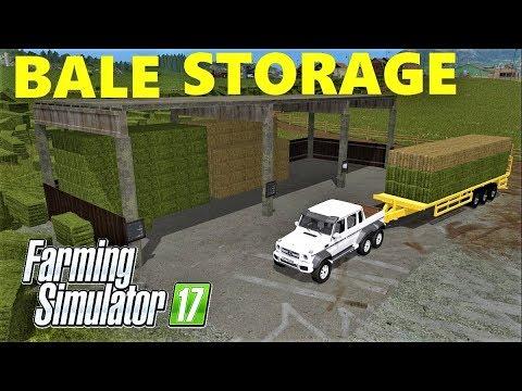 Farming Simulator 17 | BALE STORAGE PLACEABLE MOD!!