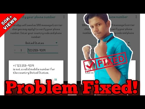 Problem Fixed || It Is Not A Valid Mobile Number From United States Problem Fixed