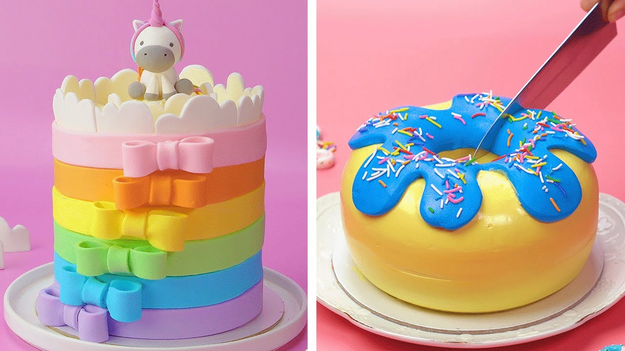 15 Cute Birthday Cake Decorating Compilation You Ll Love Homemade Easy Rainbow Cake Ideas Youtube