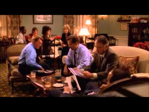 Jed and Abbey Bartlet 4x23  Leo tells the first couple that Zoey was kidnapped