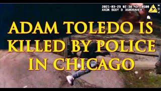 Chicago Police Shooting 13-Year-Old Adam Toledo. Полиция Чикаго стреляет в 13-летнего подростка.