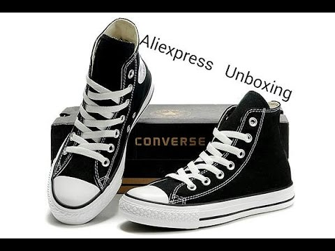 Aliexpress unboxing (converse) YouTube