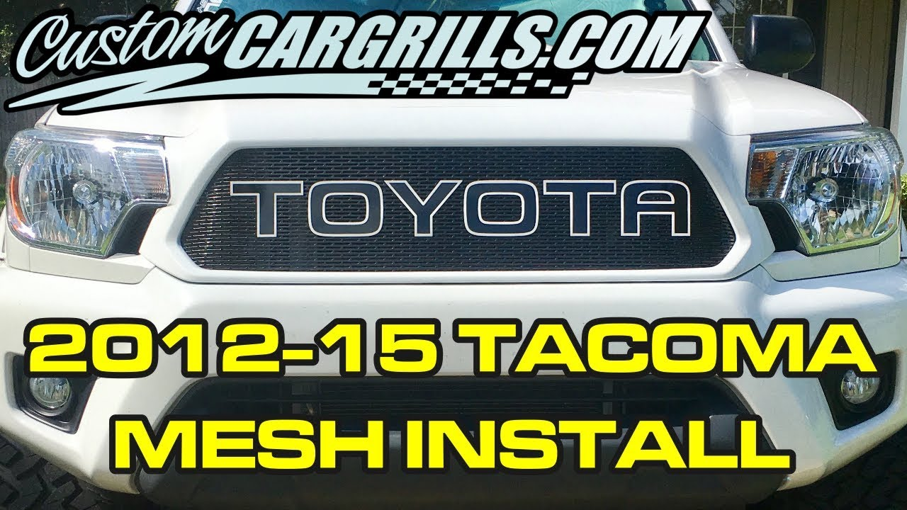 Toyota Tacoma 2012 2015 Mesh Grill Installation How To By 2014 Wiring Diagram Dimmer Switch Customcargrillscom First Upload