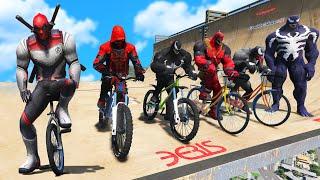 TEAM VENOM VS TEAM DEADPOOL Super Bicycles Competition #2 (Funny Contest) - GTA V Mods