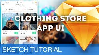 Sketch 3 Tutorial • Clothing Store App UI (iOS) • Sketchapp Tutorial & Design Workflow