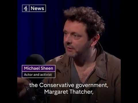 Actor Michael Sheen, the mining closures was a