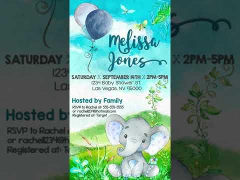 elephant-baby-shower-invitation-video