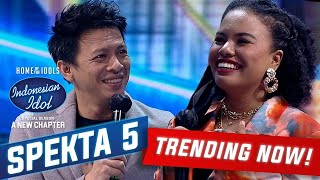 Duet Jemimah dan Ariel Noah Bawakan Lagu Separuh Aku - Spekta Show TOP 9 - Indonesian Idol 2021
