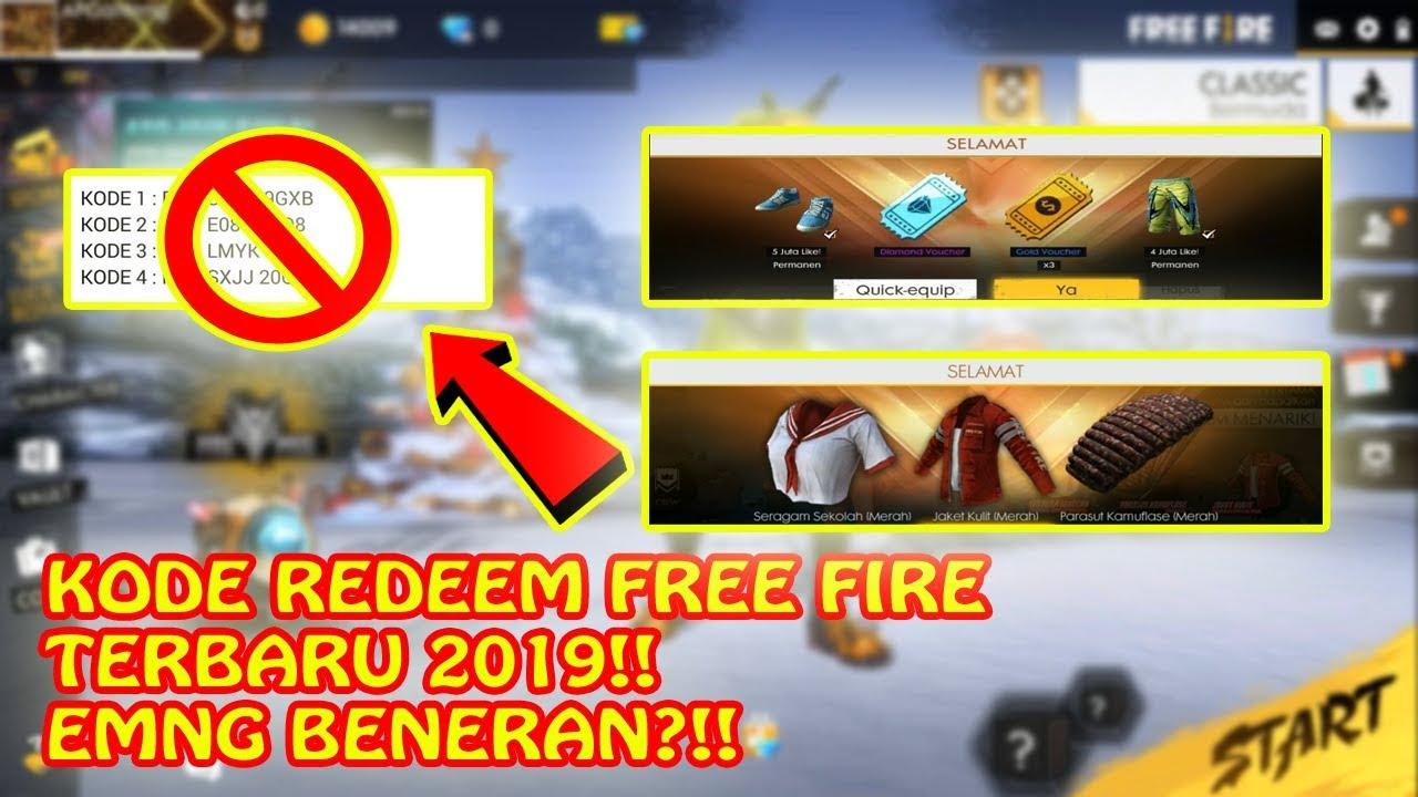 KODE REDEEM FREE FIRE TERBARU 2019!! EMANG BENERAN ADA?!