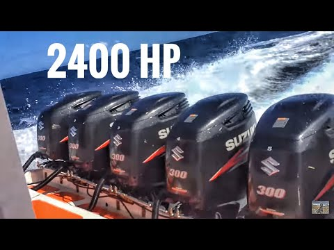 8 x 300hp Suzuki Outboard Motors! *2400hp!!!* Bali to Gili Trawangan. 60ft highspeed boat!