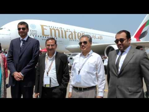 Emirates A380 at Hyderabad Airshow 2016 | Emirates Airline