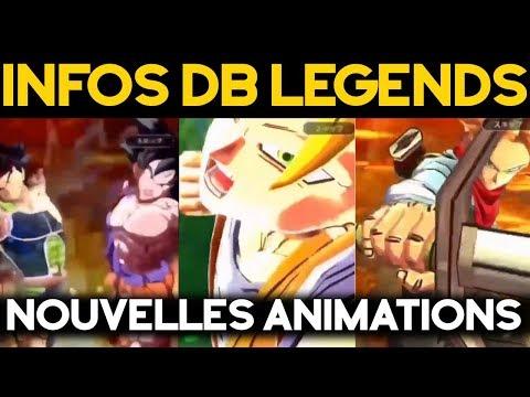 INFOS DB LEGENDS - Les nouvelles animations !