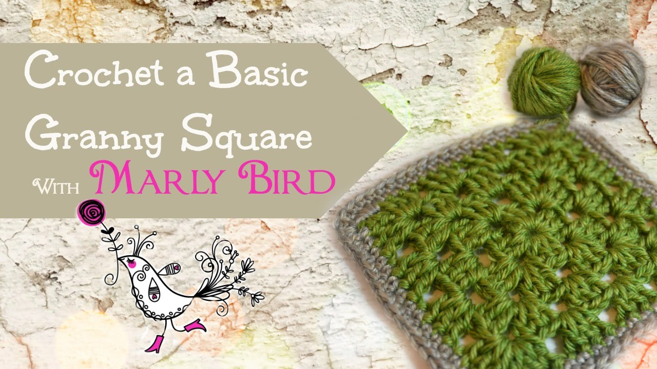 How To Crochet A Basic Granny Square Youtube