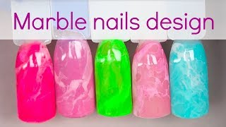 Marble nails tutorial with gel