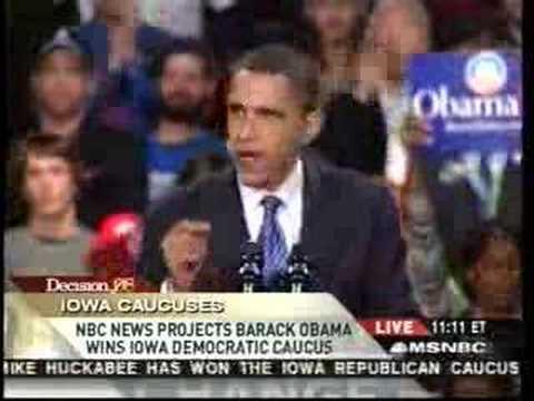 Iowa Caucus Victory Speech