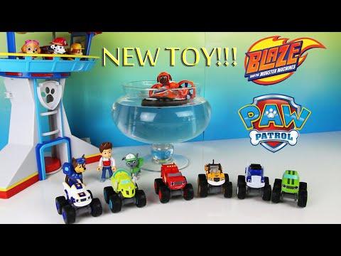 Blaze and the Monster Machine Toys Meet Paw Patrol Parody
